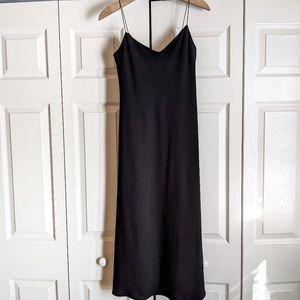 Lauren Ralph Lauren Black Sexy Slip Dress Midi